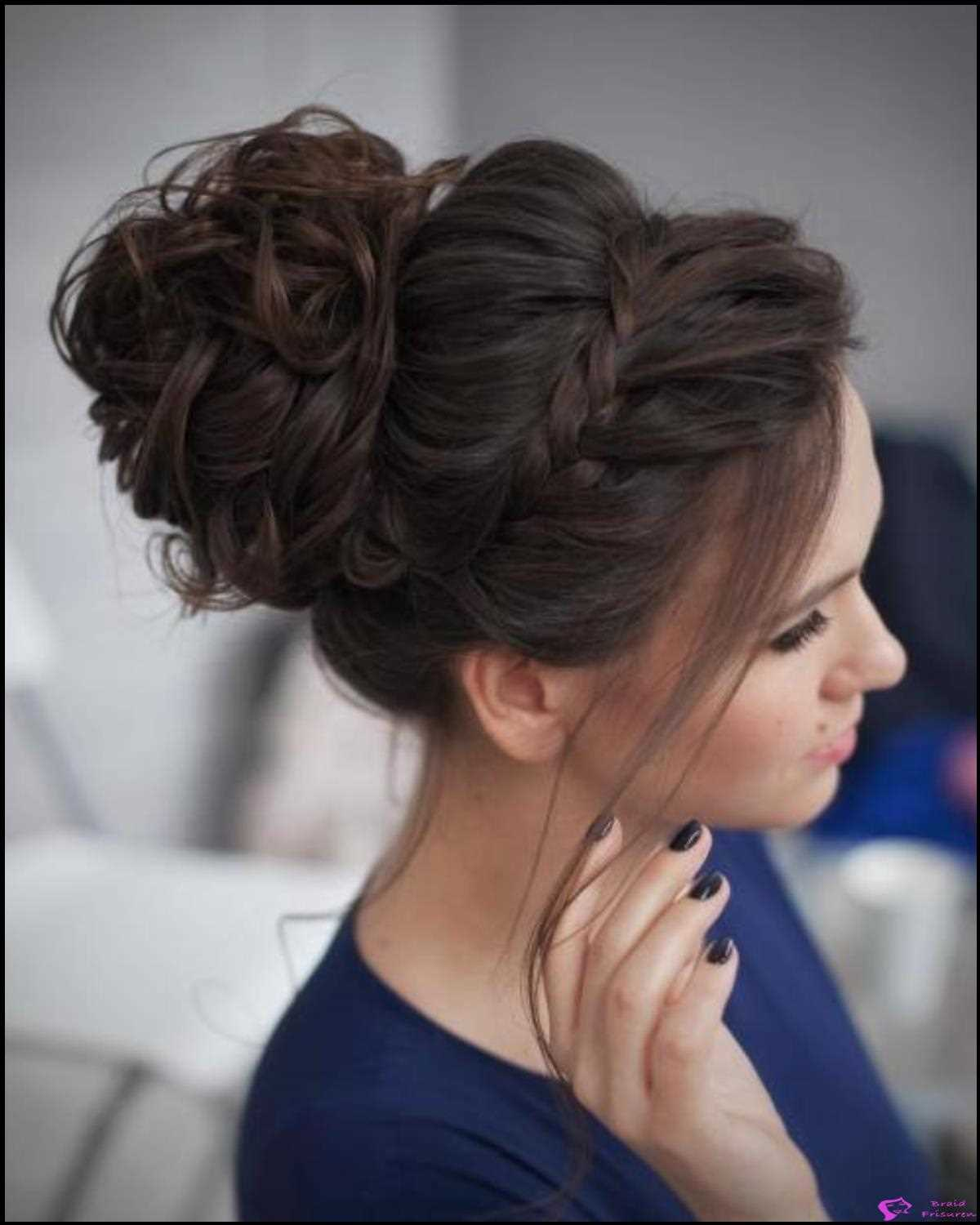 Accent Braid Prom Updo