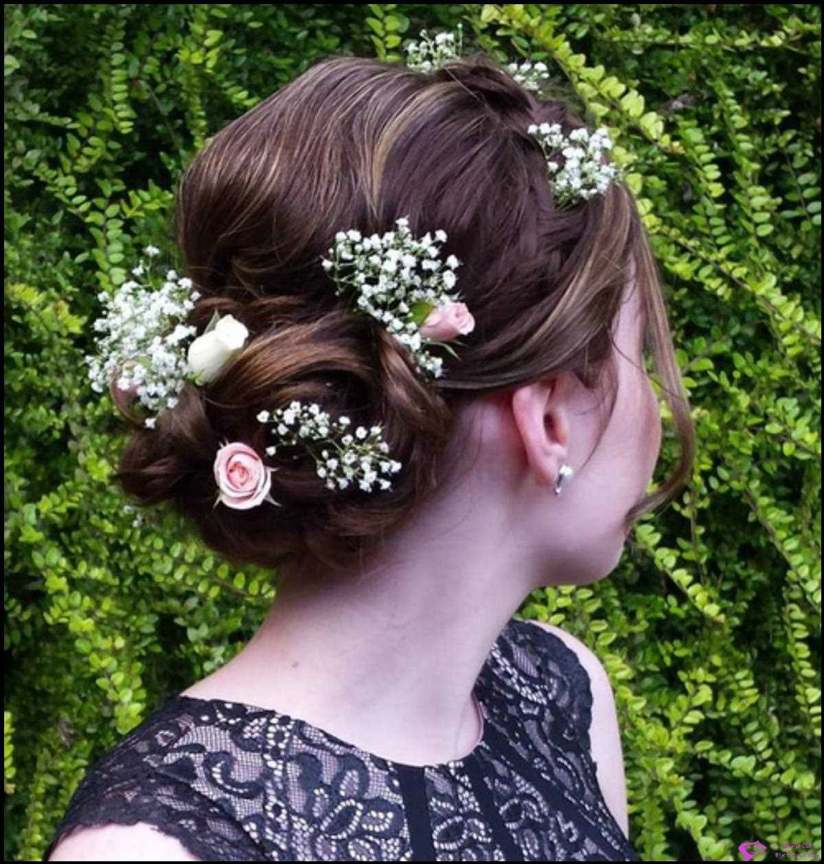 Curled Floral Updo