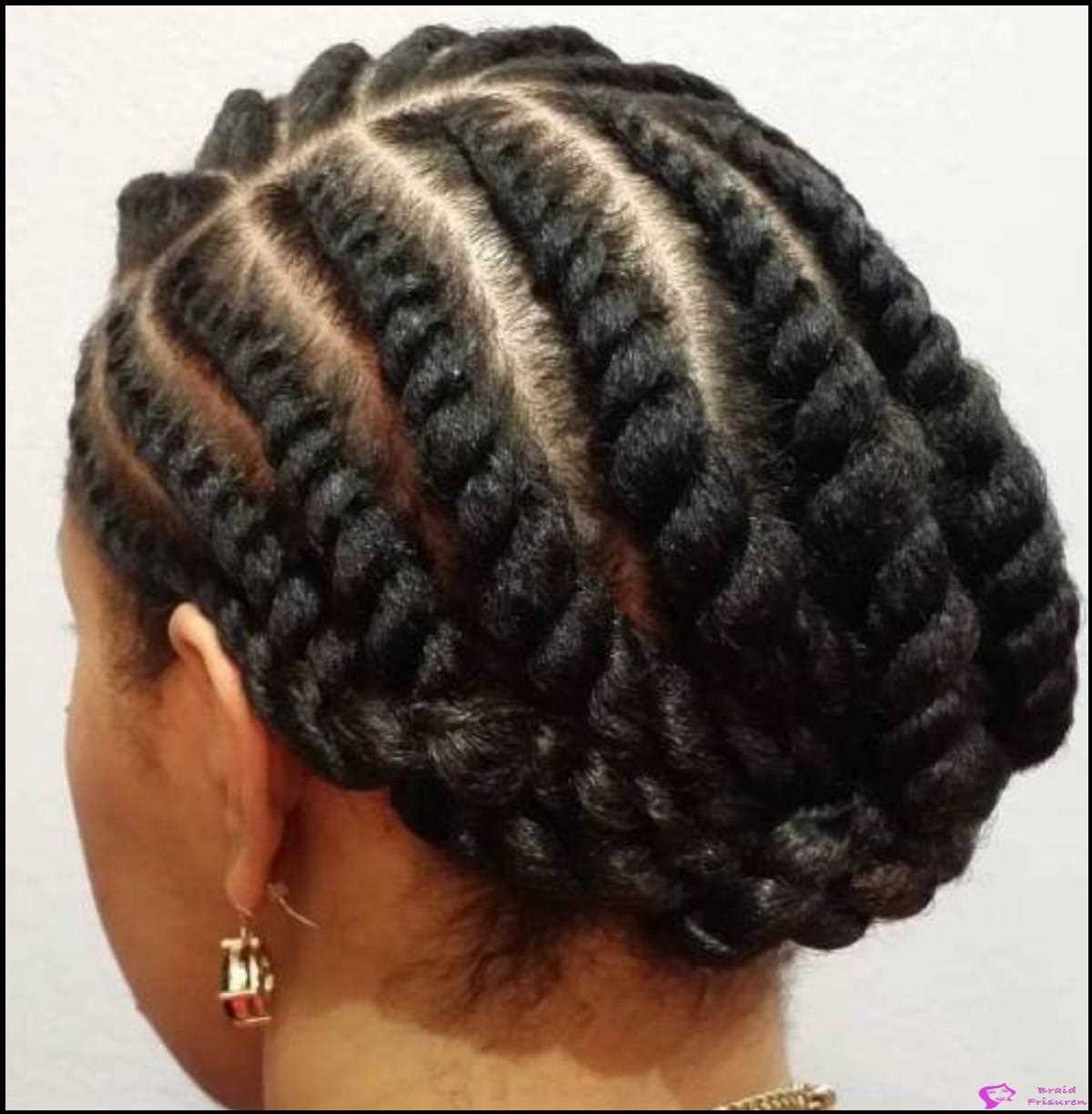 28: Twisted Rows Updo