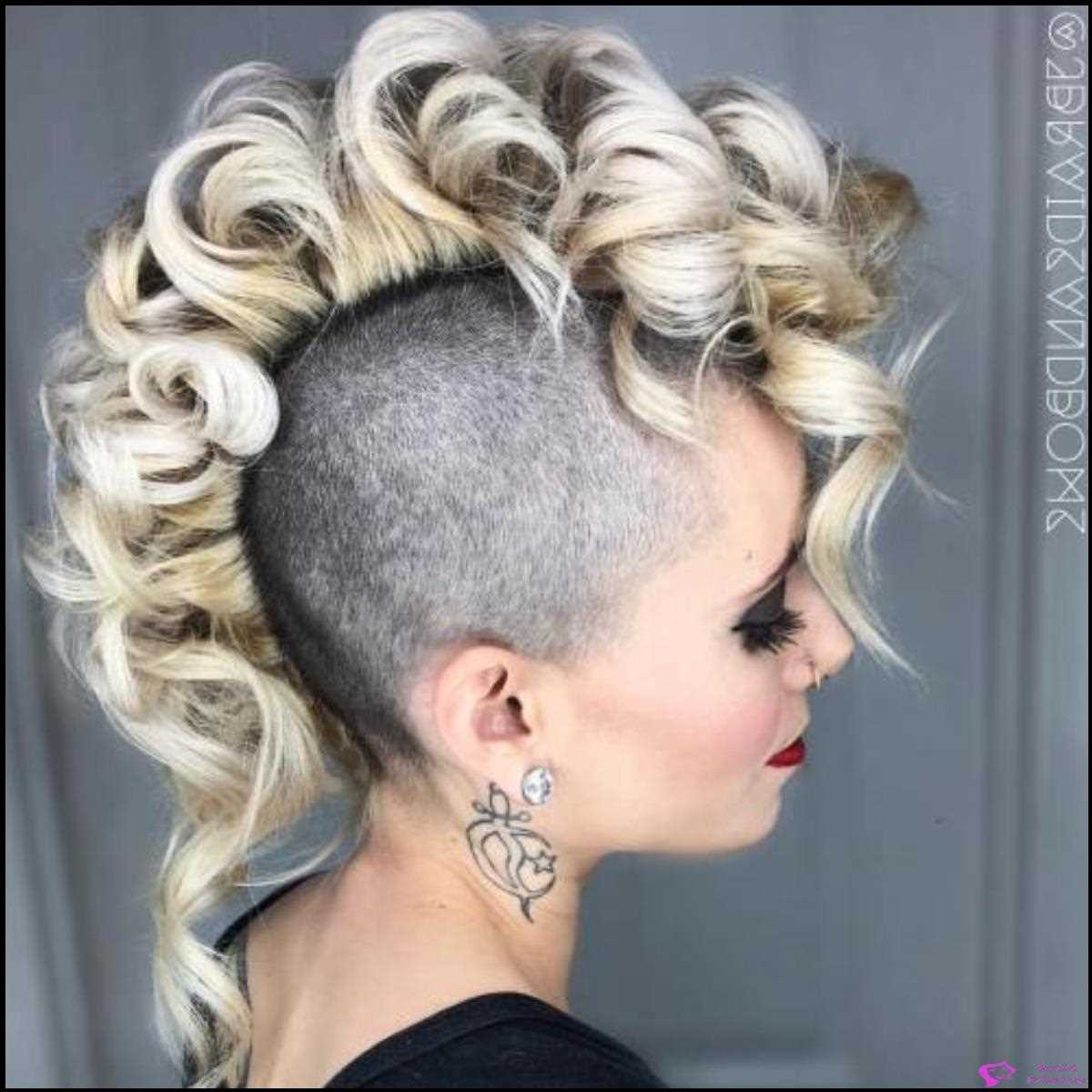 Coiled Blonde Mohawk