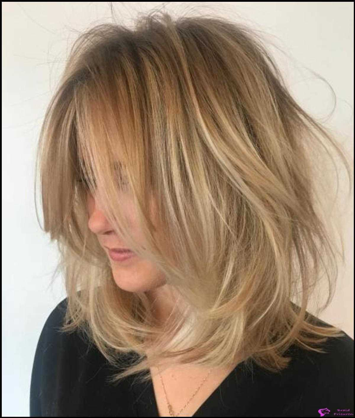Long Tousled Lob mit Root Fade