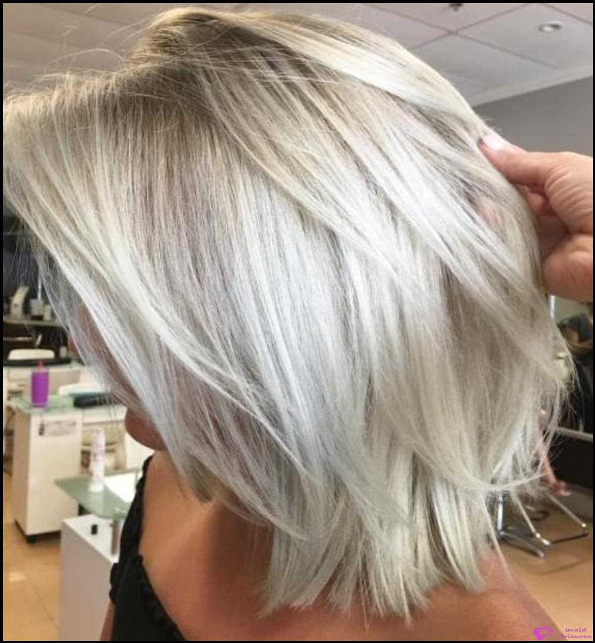 34: Disconnected White Blonde Lob