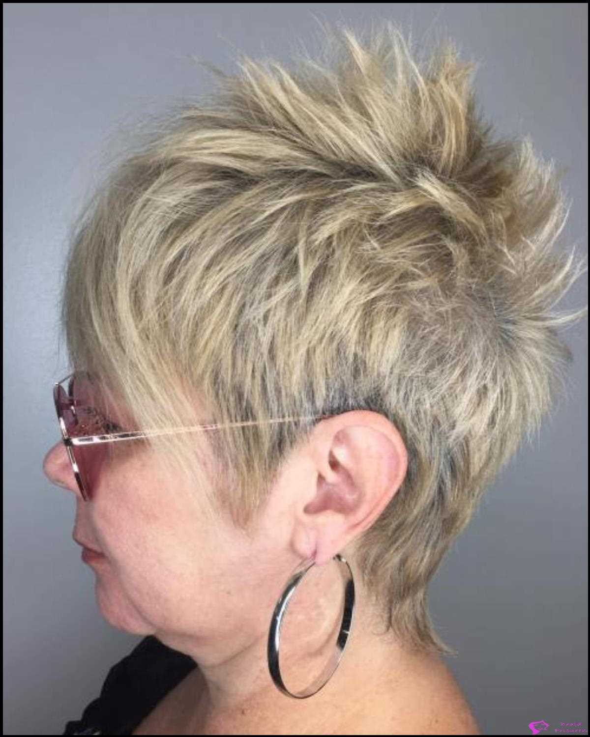 40: Ash Blonde Spiked Pixie