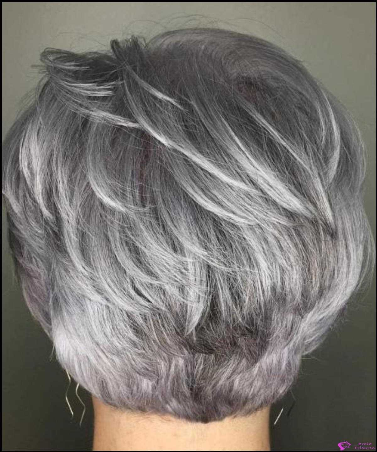 27: Cool-Toned Silver Balayage Pixie