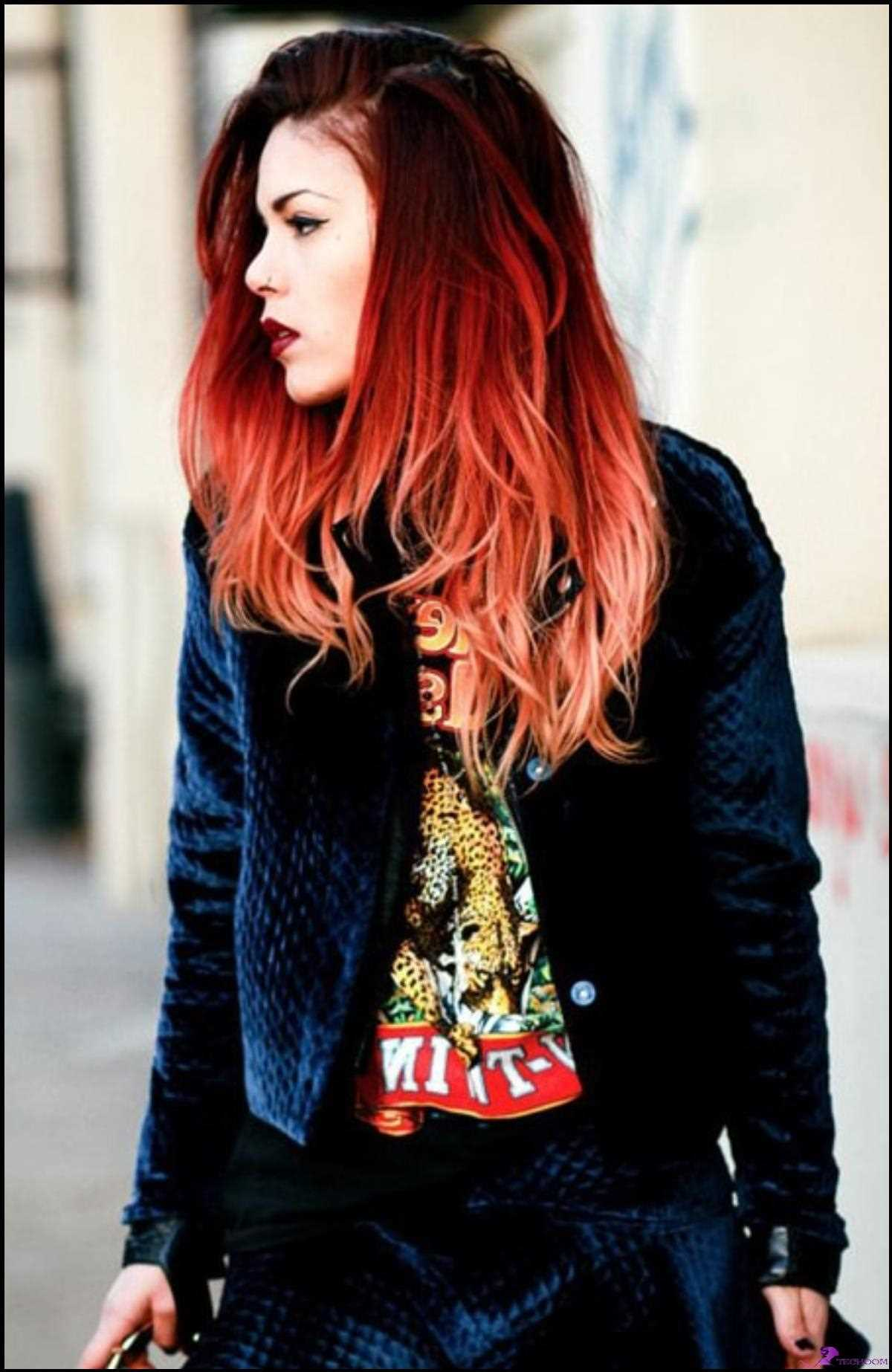 Reverse Ombre Rote Haare