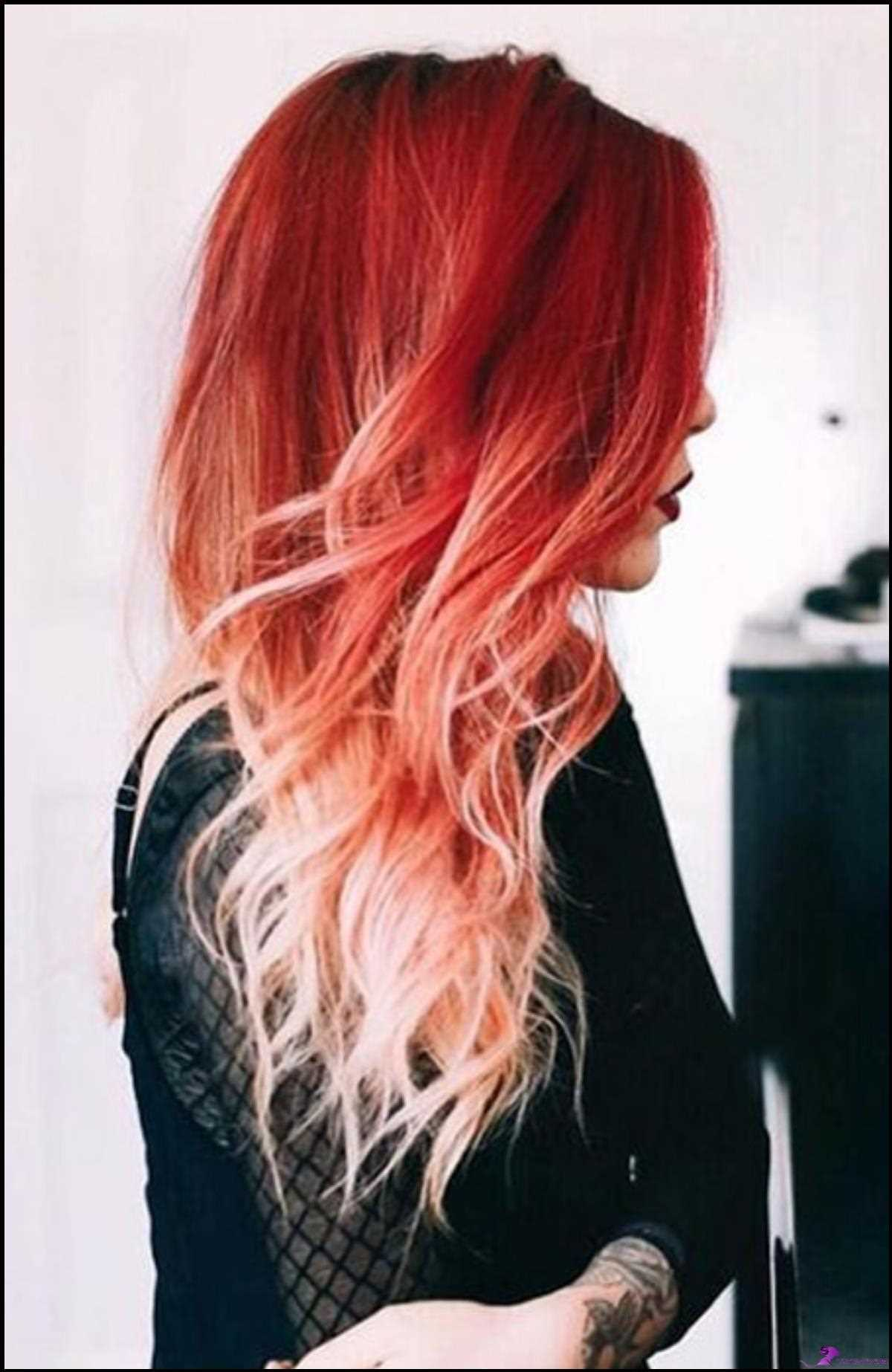 Lockiges rotes Ombre-Haar